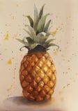 Hola verano Piña fresca Fotos de archivo libres de regalías