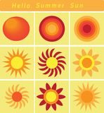 Hola verano Sun, el Sun brillante en la estación de verano Imágenes de archivo libres de regalías