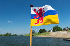 Holandés Limburgo de la bandera Foto de archivo libre de regalías