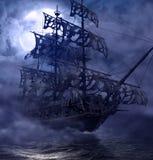 Holandês de voo do navio de Ghost do pirata ilustração royalty free