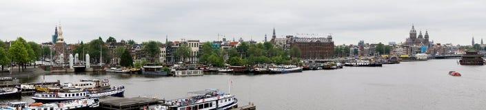 Holanda, Amsterdam, el Het Scheepvaartmuseum, foto panorámica del museo marítimo nacional imagenes de archivo