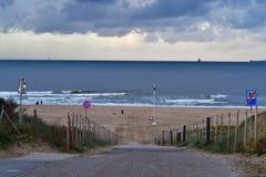 Holanda da praia em Haia imagem de stock
