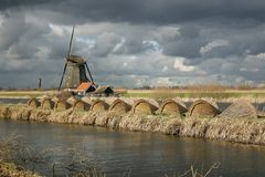 Holanda nublada Foto de archivo libre de regalías