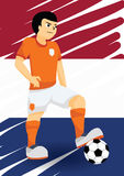 Holandia gracz piłki nożnej obraz royalty free