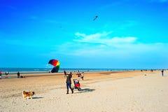 Holandia plaży aktywność Zdjęcia Royalty Free
