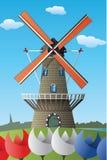 Holandia wiatraczek Obrazy Royalty Free