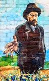 HOLANDIE AMSTERDAM, PAŹDZIERNIK, - 25, 2015: Van Gogh rysunek na ulicy ścianie Obrazy Stock