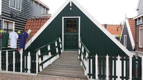 Holandie Amsterdam są także wielkim dachu domem Fotografia Stock
