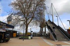 Holandie - 13 APR: Steenwijk stacja w Steenwijk holandie na 13 2017 Kwietniu Zdjęcia Royalty Free