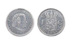 Holandie jeden gulden moneta datująca 1978 Zdjęcie Stock