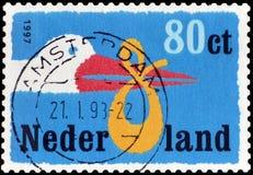 Holandie na znaczkach pocztowych obraz stock