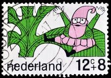 Holandie na znaczkach pocztowych obraz royalty free