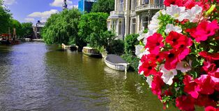 Holandii Amsterdam kanał fotografia stock