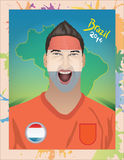 Holandii fan piłki nożnej Zdjęcia Royalty Free