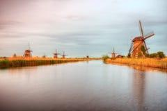 Holandii Kinderdijk wiatraczki Zdjęcie Stock