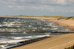 Holandii plaża obrazy stock