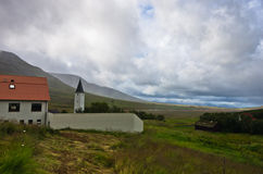 Holar diocese and first university, famous place in Iceland Stock Images