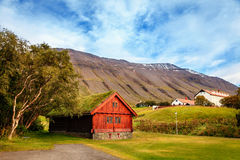 Holar, Iceland. Replica of bishop's house in the town of Holar, Iceland Stock Photo