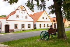 Χωριό Holasovice, Δημοκρατία της Τσεχίας. ΟΥΝΕΣΚΟ στοκ φωτογραφία