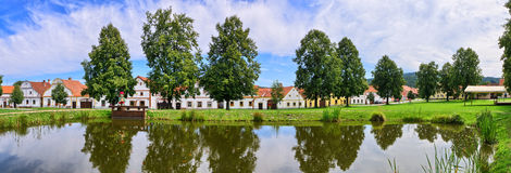Holasovice в чехии - деревне на списке наследия ЮНЕСКО стоковые изображения rf