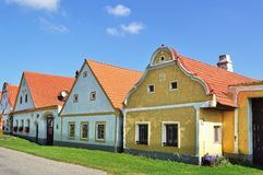 Holasovice Dorf, Tschechische Republik Stockbilder