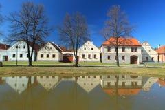 Holasovice i vinter royaltyfri bild