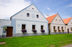 Holasovice - old Bohemian village on UNESCO heritage list Stock Image