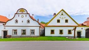 Holasovice - pueblo bohemio viejo en lista de la herencia de la UNESCO imágenes de archivo libres de regalías