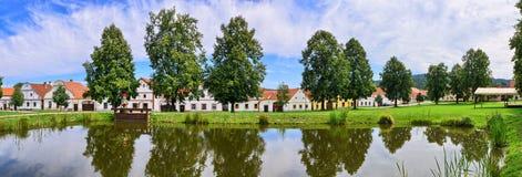 Holasovice in repubblica Ceca - villaggio sulla lista di eredità dell'Unesco immagini stock libere da diritti