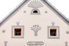 Holasovice tjeckisk republik. Byggnader i baroqen royaltyfri bild