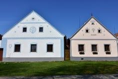 Holasovice UNESCO ochraniająca wioska obrazy royalty free