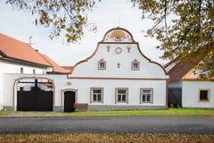 Holasovice - vilage rural en República Checa fotografía de archivo