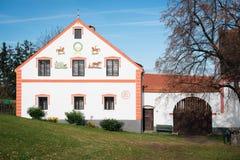 Holasovice - villaggio della Boemia rurale immagini stock libere da diritti