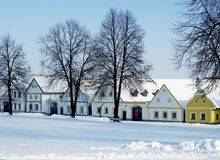 Holasovice in winter Stock Photography