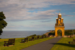 Holbeck Clock Tower on the coast in Scarborough Stock Photography