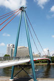 Holbeinsteg Bridge Frankfurt Stock Images