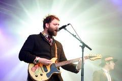 Holbewoner (band) prestaties bij het Correcte 2014 Festival van Heineken Primavera (PS14) Stock Foto