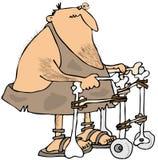 Holbewoner die een leurder gebruiken royalty-vrije illustratie