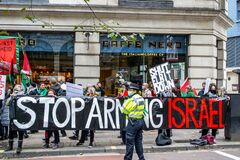HOLBORN, LONDON/ENGLAND- 10 October 2020: SHUT ELBIT DOWN protest in London