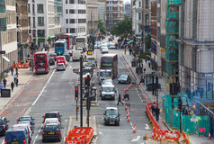 Holborn street with traffic and people crossing the road. London Stock Photography
