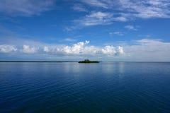 Holbox也Yalahau Conil盐水湖在墨西哥 免版税库存照片
