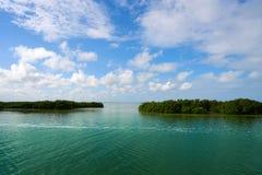 Holbox也Yalahau Conil盐水湖在墨西哥 图库摄影