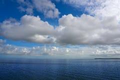 Holbox也Yalahau Conil盐水湖在墨西哥 库存图片