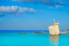 Holbox island Mexico hurricane ruins Royalty Free Stock Photography
