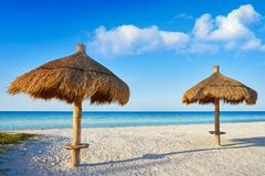 Holbox Island beach sunroof Mexico. Holbox Island beach sunroof palapa in Quintana Roo of Mexico Stock Photography