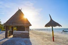 Holbox Island hut palapa Quintana Roo Mexico Royalty Free Stock Photography