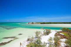Holbox island in Mexico Stock Image