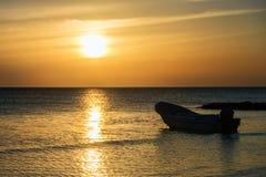 Holbox island, mexico, Caribbean sea. At sunset Stock Photos