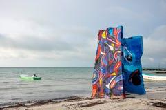 Free HOLBOX, MEXICO - MAY 25, 2018: Beach Artwork Along The Coast Of Small Fishing Town Isla Holbox Stock Image - 118638771