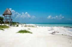 Holbox plaża Zdjęcie Royalty Free